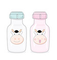 bottle cow milk vector image