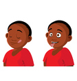 boy hungry expressions vector image vector image