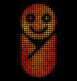 bright dot newborn icon vector image vector image