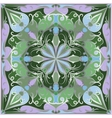 Bright green handkerchief vector image vector image