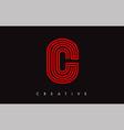 c letter modern trendy design logo letter c icon vector image
