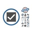 Check Flat Icon With Bonus vector image vector image