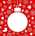 christmas paper hanging ball as a postcard vector image vector image