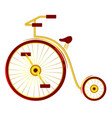 circus bike with big and small wheels vector image