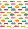city car pattern color vector image vector image