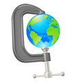 clamp globe concept vector image vector image