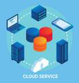 cloud service flowchart vector image
