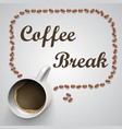 coffee mug with a message vector image vector image