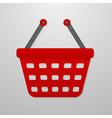 Color icon of shopping cart vector image