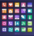 colorful flat square icons-set 2 vector image vector image