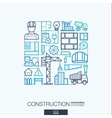 Construction integrated thin line symbols Modern vector image vector image