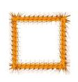 Decorative Yellow Frame vector image vector image