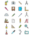 Design icons set vector image vector image
