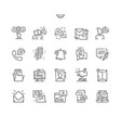 dialogue assets thin line icons vector image