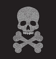 diamond skull silhouette vector image