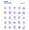 flat line gradient icons design-restaurant vector image vector image