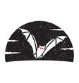 flying bat logo vector image vector image