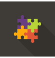 Four Puzzle Flat Icon vector image