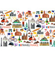 france landmarks and travel map vector image vector image