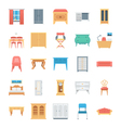 Furniture Colored Icons 8 vector image vector image