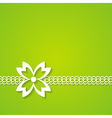 green floral card vector image vector image