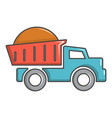 heavy construction tipper icon cartoon style vector image vector image