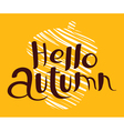 Hello Autumn lettering composition vector image