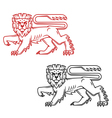 Heraldic lion king in retro cartoon style vector | Price: 1 Credit (USD $1)
