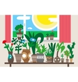 houseplants - vector image