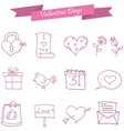 Icon of valentine day pink element vector image vector image
