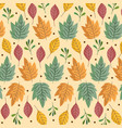 leaves leaf herbs foliage nature decoration vector image vector image