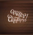 merry christmas stamp with calligraphic text on vector image