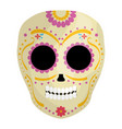 mexican skull death mask vector image vector image