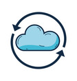 nice cloud weather with arrows around vector image vector image