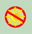 no sun sign vector image vector image