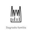 outline sagrada familia building icon isolated