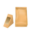 paper bag and triangle packaging box for sandwich vector image vector image