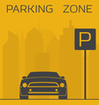 Parking zone vector image
