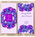 Peacock Feathers wedding invitation card vector image vector image