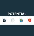 potential icon set premium symbol in different vector image vector image