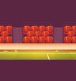 red plastic seats on sport stadium tribune vector image