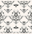 repeating rococo background vector image