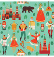 russian sights and folk art flat design vector image