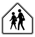 school advance warning or black and white vintage vector image vector image