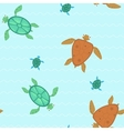seamless with turtles vector image vector image