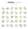 set line icons football vector image vector image
