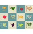 Set of I love vegetables Eggplant and cucumber vector image