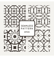 Set of seamless patterns in the style of vector image vector image