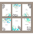 set templates vector image vector image