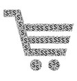 shopping cart composition of dollar vector image vector image